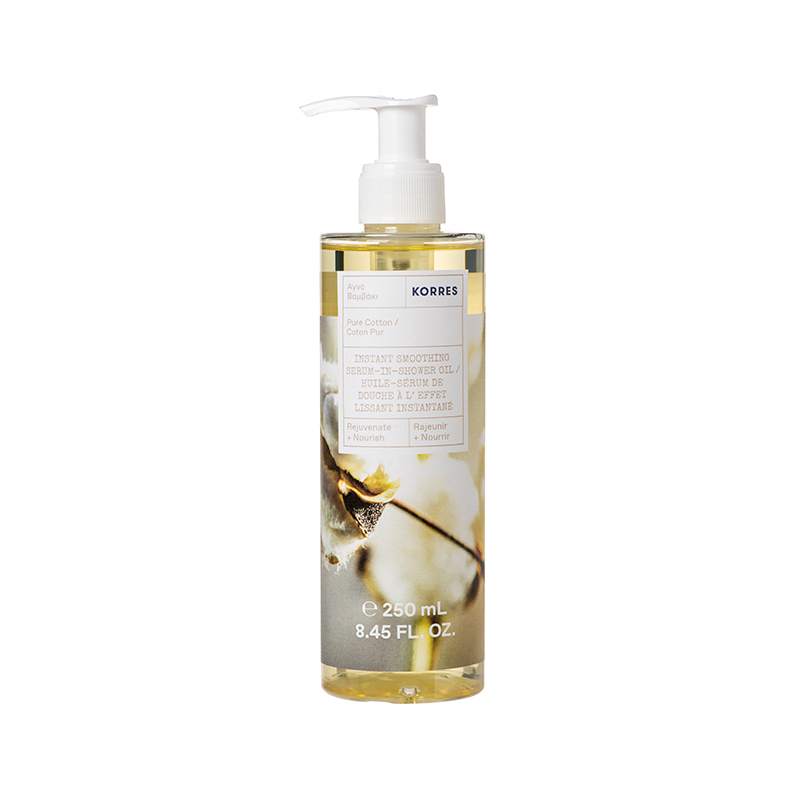 INSTANT SMOOTHING SERUM-IN-SHOWER OIL - INSTANT SMOOTHING SERUM-IN-SHOWER OIL - Ενυδατικό Serum Oil Σώματος Αγνό Βαμβάκι